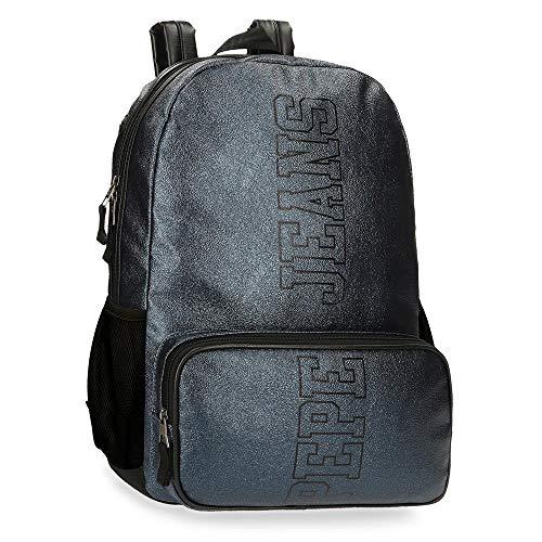 Pepe Jeans Chemistry Zaino porta Pc Adattabile Azzurro 32x44x15 cms PU e poliestere 15,6  21.12L