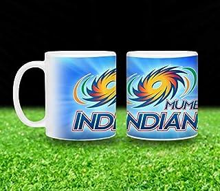 Vista 11oz IPL Team Printed Coffee Mugs- Mumbai Indians Logo printed White Mug