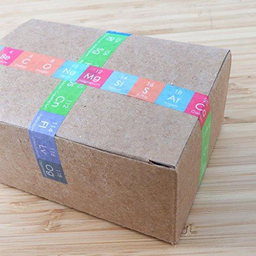 LiFe Chem Chemical Elements Washi Masking Tape Set, Creative Flash Card, Chemistry Décor, All 118 Elements, giftwrap
