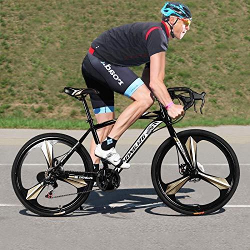 Celendi 【USA in Stock】 26in Mountain Bike Full Suspension 21 Speed Bike Non-Slip Bike for Adults Sport Wheels Disc Brakes Aluminum Frame MTB Bicycle Track Bike Road Bikes - Black