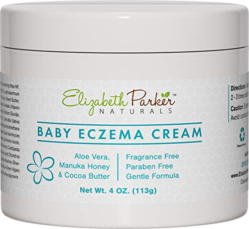 Baby Eczema Cream for Face and Body, Powerful Healing Formula with Vitamin E, Honey and Coconut Oil, Best Eczema Treatment for Babies (4oz)