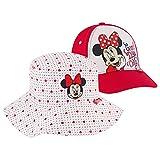 Disney Kids Bucket Girls, Minnie Mouse Toddler Baseball Cap and Baby Sunhat, UPF 50+ UV Sun Protection Boonie, Bucket & Baseball Hat, 2-4T