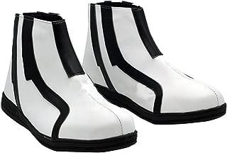 Zunpeng Ouma Shu Cosplay Shoes Black White Stripe Mens Shoes