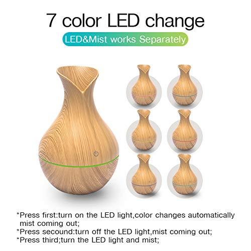 LGLZKAMini Air Lampe Luftbefeuchter Ultraschall Nebel Aroma Diffusor USB Ätherisches Öl Diffusor Aromatherapie Home Car Office