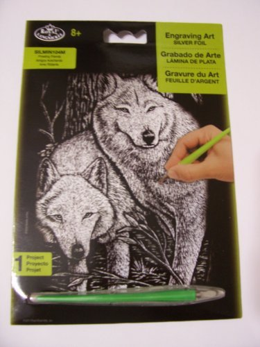 Royal & Langnickel Engraving Art Silver Foil ~ Wolves on the Prowl