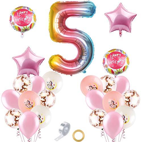 Unicornio Decoraciones Cumpleaños de Fiesta, Globo Numero Unicornio,Fiesta Globos,Feliz Cumpleaños Decoracion Rosa,Decoraciones de Fiesta de Princesas