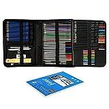 ATARSM Juego de lápices de arte-74Pcs / Set Kit de Dibujo Profesional Lápices de Dibujo Suministros de Pintura para bocetos artísticos con Bolsa de Transporte