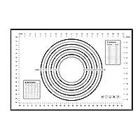 ノンスティックシリコンベーキングマットパッドベーキングシートグラスファイバーローリング生地マットブラック30 * 40
