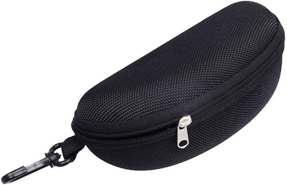 bjduck99 Travel Portable Zipper Eye Glasses Clam Shell Sunglasses Protect Hard Case Box