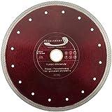 PRODIAMANT Premium Diamant-Trennscheibe Fliese/Feinsteinzeug 250 mm x 30/25,4 mm Diamanttrennscheibe 250mm Fliesenscheibe passend für Tischmaschinen