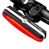 Ultra Bright Bike Light,USB Rechargeable Waterproof Sport LED Red Fits On Any Road Bicycles Helmets 6 Light Mode Options For Safe Cycling