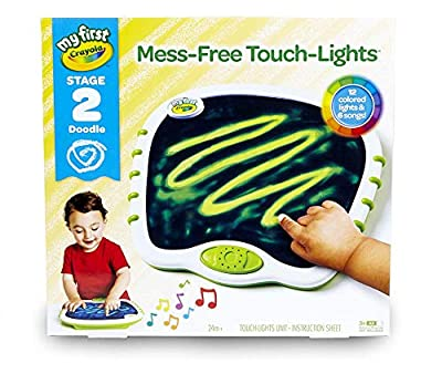 My First Crayola Touch Lights, Musical Doodle Board, Toddler Toy, Gift from Crayola