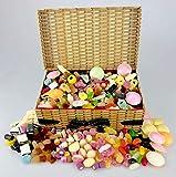 Cesta retro para dulces y mezclas – Old Time Sweets – Platillos voladores, mezcla de d...