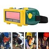 Wandisy Gafas de Soldadura con oscurecimiento automático Solar - Soldadoras de Pulido Arco de Gafas de máscara - Gafas Protectoras de Soldadura Ajustables de Seguridad Casco de máscara