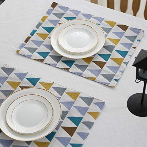 Reutilizable Antideslizanteyresistentealdesgaste Altacalidadnordic Style Double-Sided Geometric Pattern Cotton and Hemp Mat