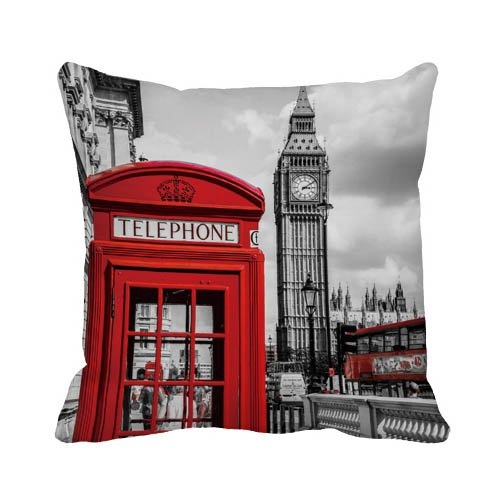 Ailoviu Cotton Canvas London Red Phonebooth and Big Ben...