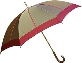 NOBEL(ノーベル) レディース 雨傘 長傘 日本製 甲州産先染め生地使用 中ボーダー柄 おしゃれ スタイリッシュ
