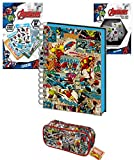 [page_title]-MJB Marvel Bumper Stationery Bundle Set - Marvel A5 Wiro Notebook 3D Cover - Federmäppchen - 800 Aufkleber - 33 Tech Sticker