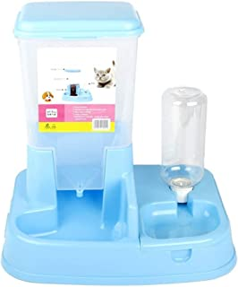 New Pet Resin Supplies Automatic Drinking Fountains Feeding Device One Cat Food Bowl Cat Bowl Dog Bowl Dog Pot Blue Pet su...