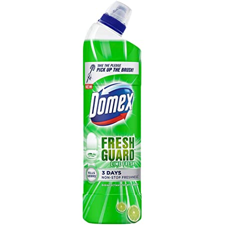 Domex Fresh Guard Lime Fresh Disinfectant Toilet Cleaner, 750 ml