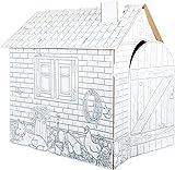 small foot 10015 Spielhaus 'Bauernhof' aus Bastelkarton, bemalbar mit Wachs, Filz- und Buntstiften,...