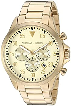 Michael Kors Men  sGage Gold-Tone Watch MK8491