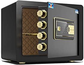 Wall Safes Smart Anti-Theft Home Fingerprint Safe with Password and Emergency Control Key Used for Jewelry Used for Home O...