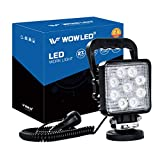 WOWLED 27W Portable LED Work Light Flood Lamp with Magnetic Base for Car, Off-Road, Truck, Boat, Tractor,...