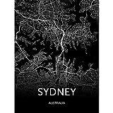 PHhomedecor Moderne Leinwand Kunst Australien Karte Sydney