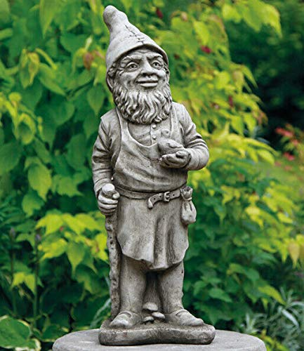 Forster Zwerg Statue | Rekonstruierter Kalkstein Vintage Beton Garten Ornament