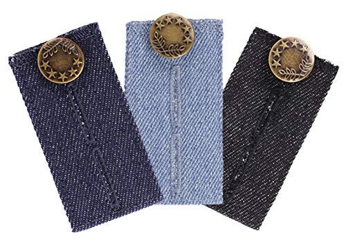 Comfy Fit Hosenerweiterung in Jeans Optik – Hosenbunderweiterung für Jeanshosen – 3er Pack