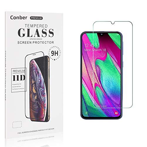 Conber [1 Stück] Displayschutzfolie kompatibel mit Samsung Galaxy A40, Panzerglas Schutzfolie für Samsung Galaxy A40 [9H Härte][Hüllenfreundlich]