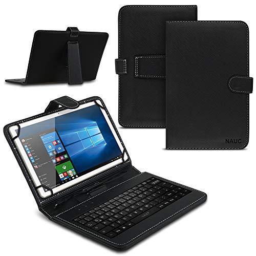 Tablet Hülle für Lenovo Tab E10 Tasche Tastatur Keyboard QWERTZ Schutzhülle Cover Standfunktion USB Schutz Hülle