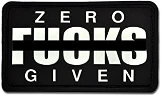 Bastion Tactical Combat Badge PVC Morale Patch Hook and Loop Patch - Zero Fxcks BNW