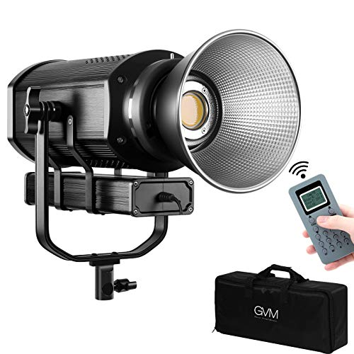 GVM Studio Led Video Light 300w Continuous Fresnel Light,YouTube Photography Lighting CRI97+ 5600K Continuous Output Lighting for YouTube, Video, Wedding