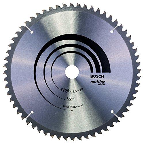 Bosch 2 608 640 441 - Hoja de sierra circular Optiline Wood - 305 x 30 x 2,5 mm, 60 (pack de 1)