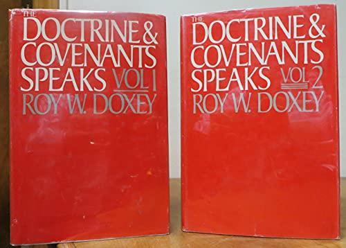 Rare Doctrine & Covenants Speaks Volumes 1 & 2 COMPLETE! Roy Doxey Mormon HCDJ