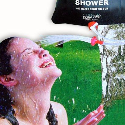 Relaxdays Douche solaire pour le camping ou le jardin avec réservoir de 15 l