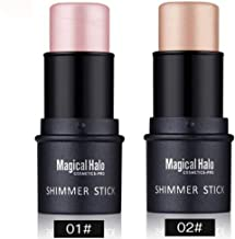 Highlighter Stick, NICEFACE Shimmer Cream Powder Waterproof Light Face Cosmetics (2 colors)