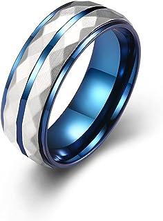 خاتم رجالي جديد من التيتانيوم الصلب التنغستن الصلب بحرفية أصلية