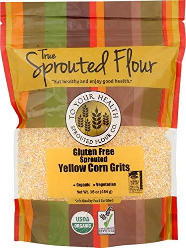 To Your Health Sprouted Flour Co, Grits Yellow Corn Organic Gluten Free Sprouted, 1 Pound