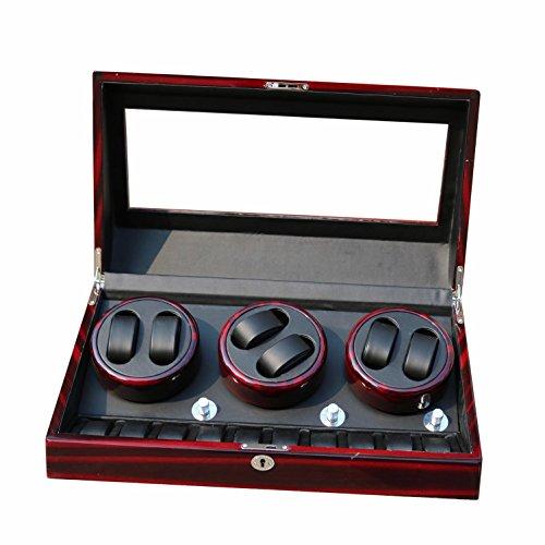LWBAN-Packing Neue Uhr Angelschnur 6+ 10Leder für Karton mit drei leise Mabuchi Motoren