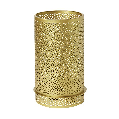 Duni 183192 Bliss Professionele kaarsenhouder voor LED, 200 mm x 120 mm, Goud, metaal (Pak van 4)