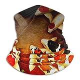 Calentador de cuello japonés Fleece Koi Fish de carpa japonesa - Tubo de polaina reversible para cuello, Versatilidad Diadema para calentador de oreja