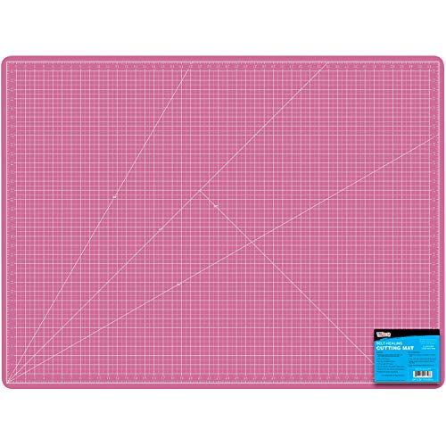 """US Art Supply 36"""" x 48"""" Pink/Blue Professional Self Healing 5-Ply Double Sided Durable Non-Slip PVC Cutting Mat Great for Scrapbooking, Quilting, Sewing and All Arts & Crafts Projects"""