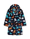 Hatley Boys' Fuzzy Fleece Robe, Silhouette Dinos, Medium (4-5 Years)