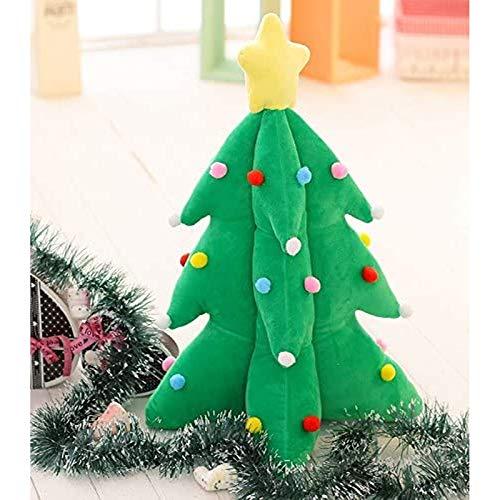 Kpcxdp Muebles para el hogar Personalidad Creativa árbol de Navidad Juguetes de Peluche Luminoso árbol de Navidad Actividades de decoración Felpa 55 cm Sonido y luz