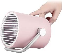 LOVEQIZI Ventilador USB Personal pequeño de Escritorio - Mini Ventilador de Escritorio portátil para Mesa con Turbo Blades, tecnología de circulación de Aire Whisper Quiet Cyclone - para el hogar,C