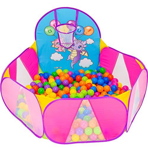 NUBUNI Piscina de Bolas : Piscina Infantil : Piscina Bolas para Parque Infantil : Piscina Bolas Bebe : Parque de Bolas y: Mini Canasta Baloncesto Habitación G