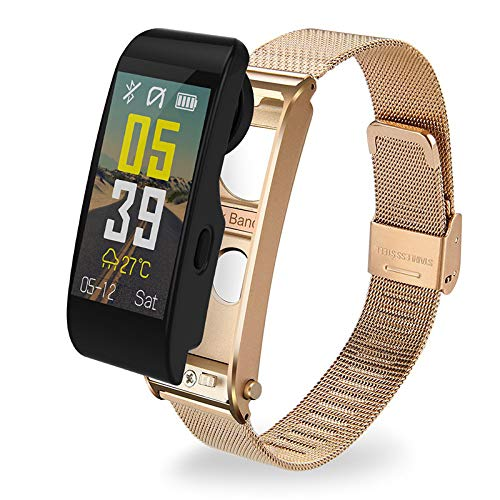 HX0945 Y6 Color Screen Smart Fitness Watch Sports Bracelet Strap with Belt Bracelet Call Pedometer Heart Rate,Gold